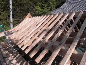 垂木設置の状況